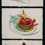 3 Small Food Paintings