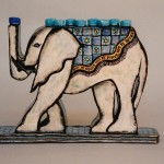 Chanukah Elephant Menorah Back